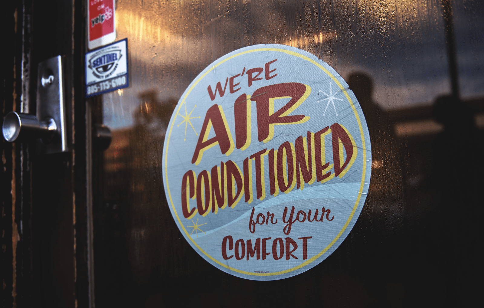 air conditioning company sign